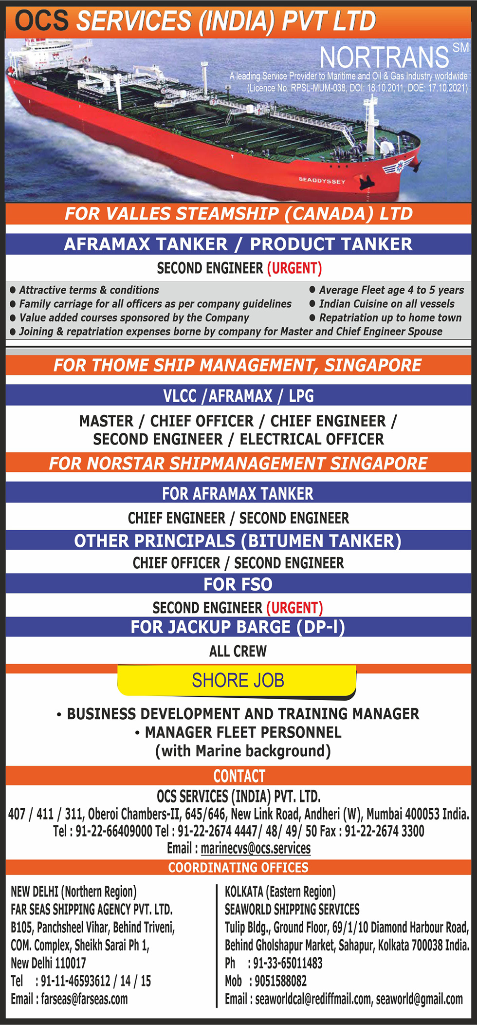 NORTRANS Maritime | Maritime Union of India - Seajob net