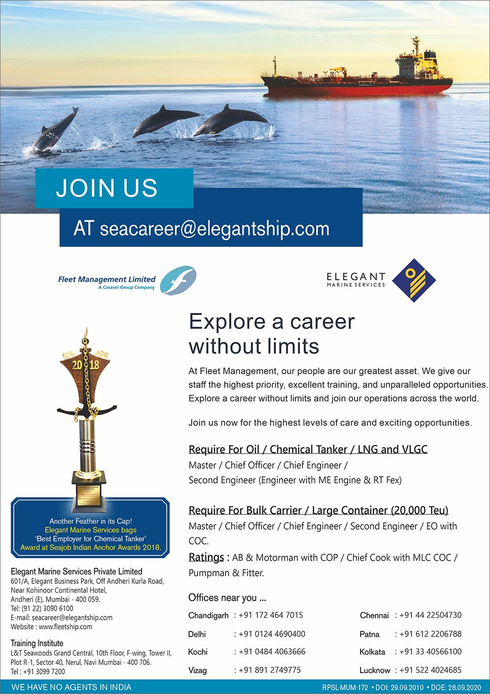 Fleet Management | Seaj | Seajobs | Sea Career