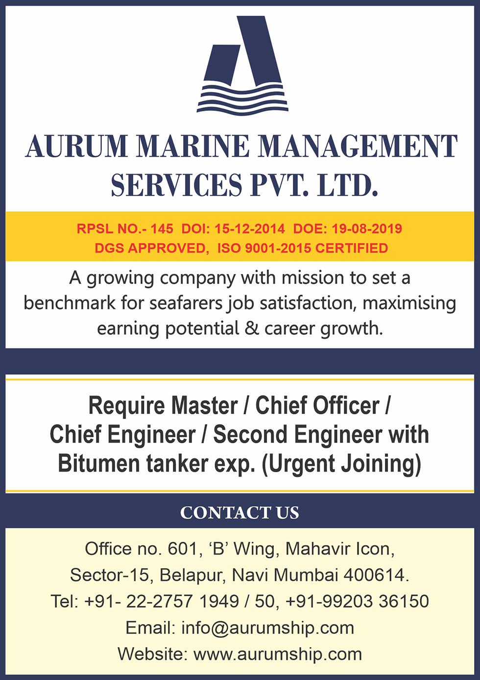 Aurum Marine Management Services Pvt Ltd