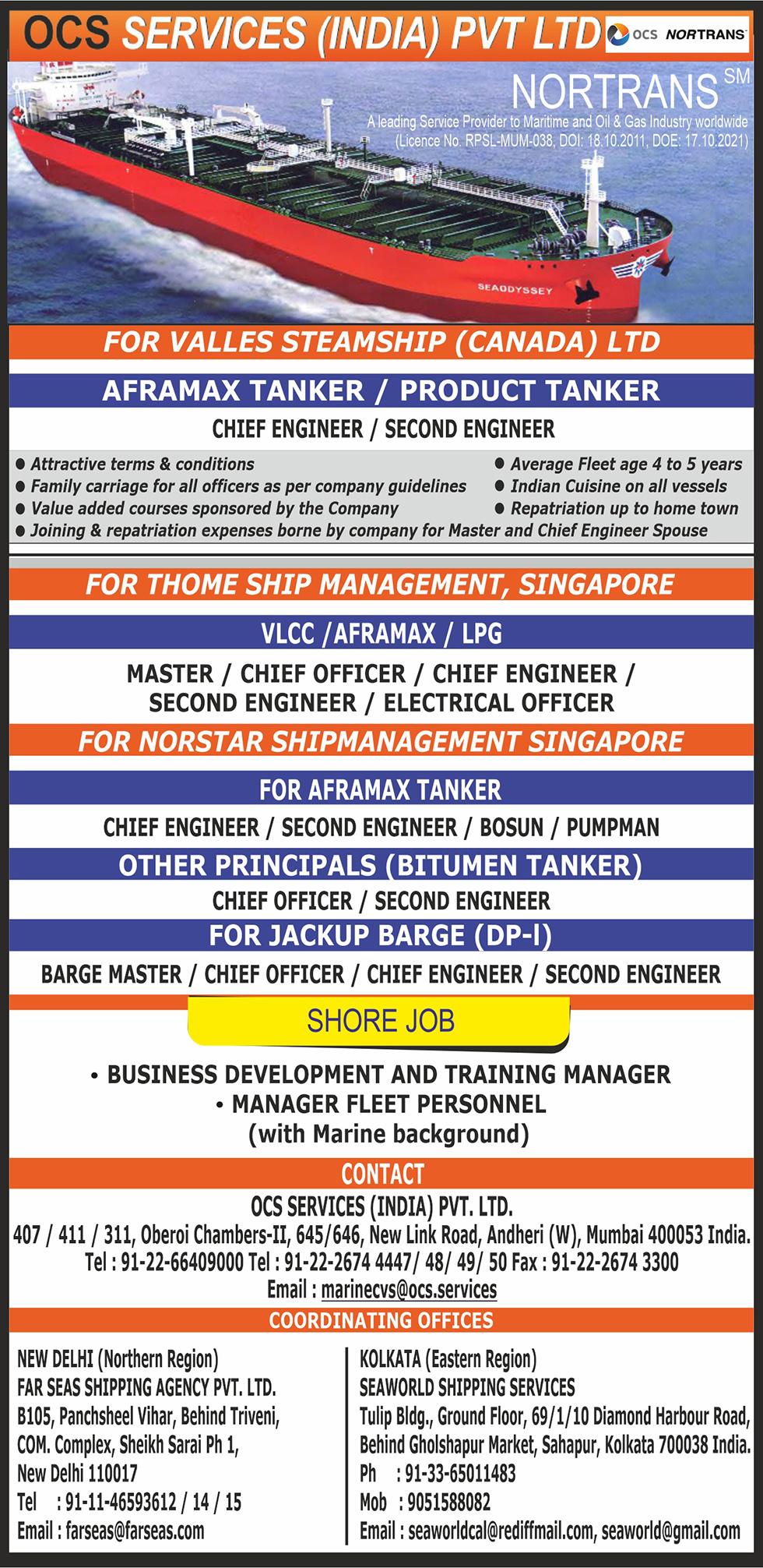 NORTRANS Maritime | Maritime Union of India - Seajob net